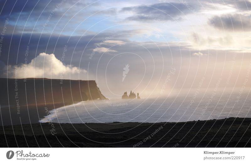 Traumlandschaft? Umwelt Natur Landschaft Luft Wasser Himmel Wolken Schönes Wetter Wind Nebel Felsen Berge u. Gebirge Küste Strand Riff Meer frei Gefühle schön