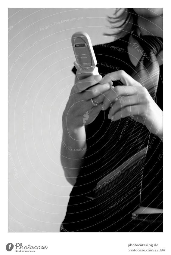 Handy Frau Hand Telefon Kreis Handy Mobilität Krawatte