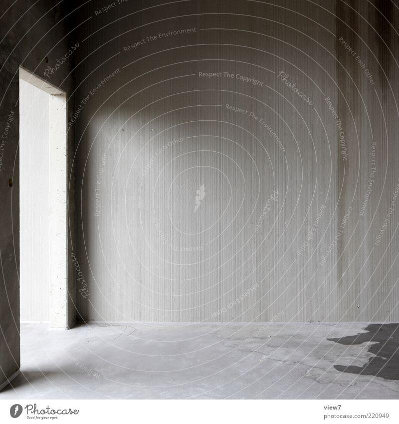 einfluss alt Haus Einsamkeit dunkel Wand grau Stein Mauer elegant nass Beton Fassade frisch Perspektive modern ästhetisch