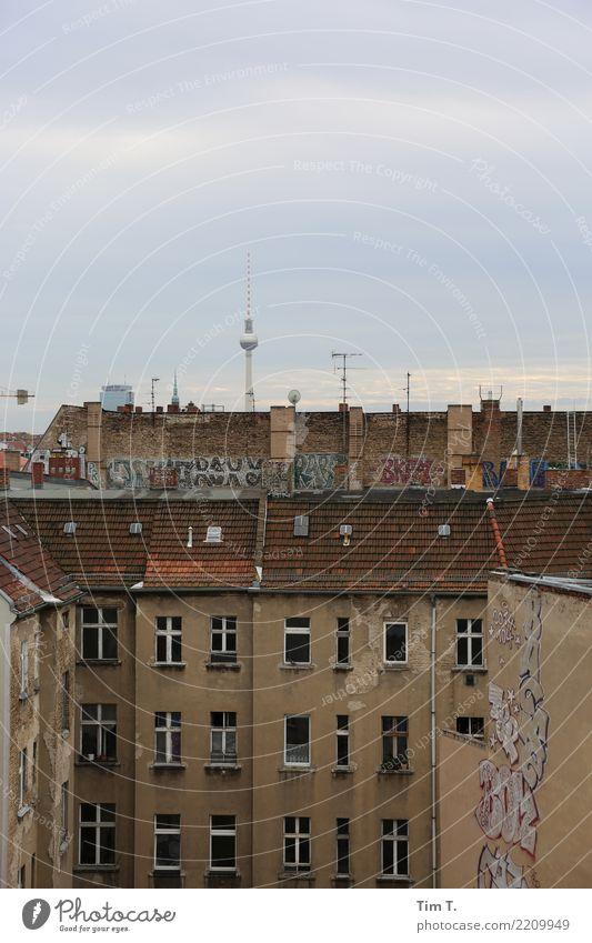 Prenzlauer Berg / Fernsehturm Berlin Berliner Fernsehturm Stadt Hauptstadt Stadtzentrum Altstadt Menschenleer Haus Umzug (Wohnungswechsel) Häusliches Leben