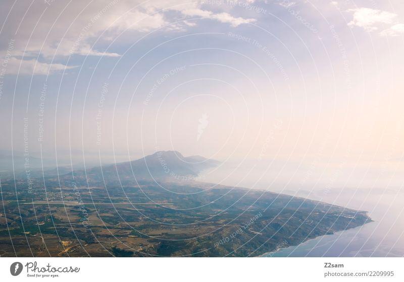 über den Wolken Ferien & Urlaub & Reisen Meer Umwelt Natur Landschaft Wasser Himmel Horizont Sommer Schönes Wetter Berge u. Gebirge Küste Strand Bucht Insel