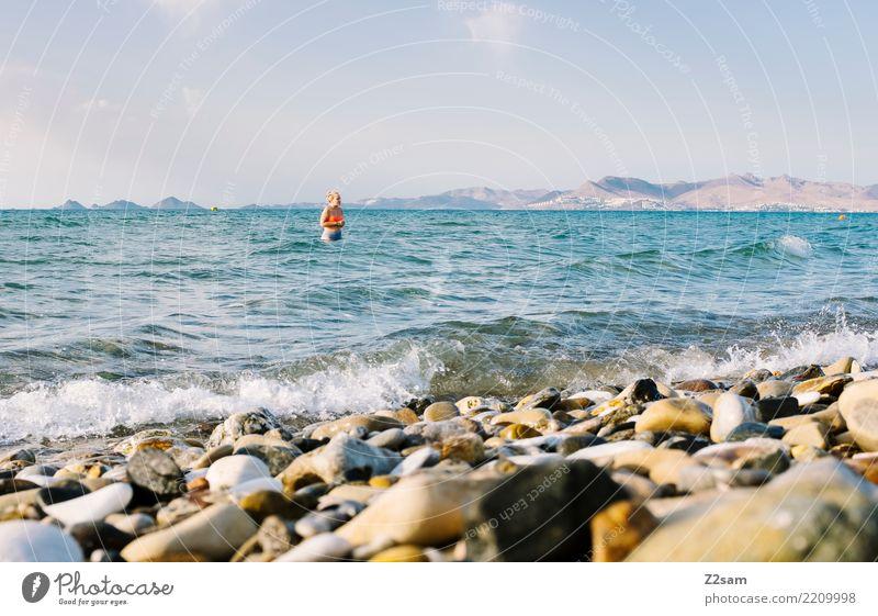 Plantschen auf KOS Natur Ferien & Urlaub & Reisen Jugendliche Junge Frau Sommer schön Landschaft Sonne Meer Erholung Freude Ferne Strand 18-30 Jahre Erwachsene