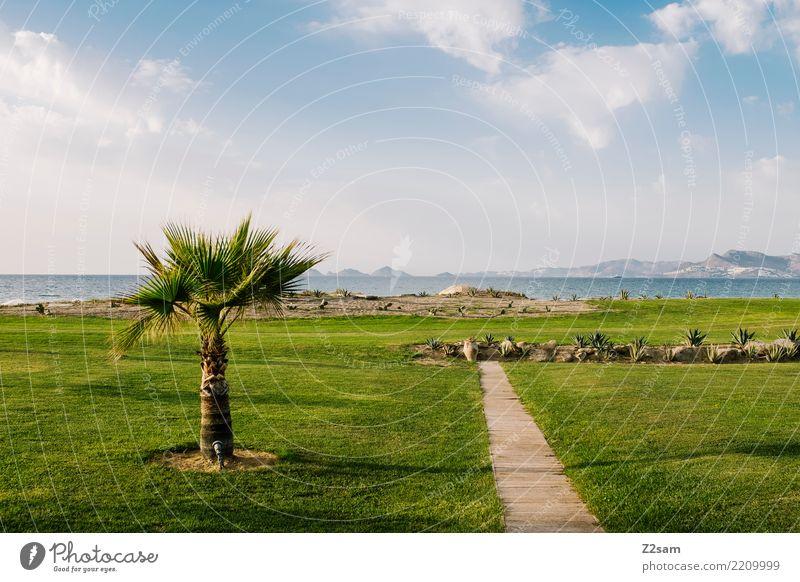 nice to stay Himmel Natur Ferien & Urlaub & Reisen Sommer grün Landschaft Meer Erholung Einsamkeit Ferne Umwelt Wiese natürlich Küste Garten Horizont