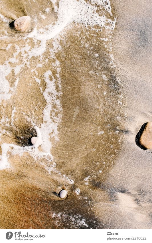 Stein Wasser Sand Natur Ferien & Urlaub & Reisen Sommer Landschaft Meer Erholung ruhig Strand Umwelt natürlich Küste braun Wellen frisch Idylle