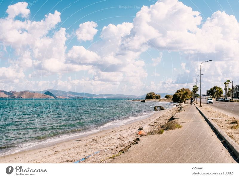 Highway to Kos Natur Ferien & Urlaub & Reisen blau Sommer Stadt Landschaft Meer Wolken Strand Straße Küste modern Idylle Insel Schönes Wetter einfach