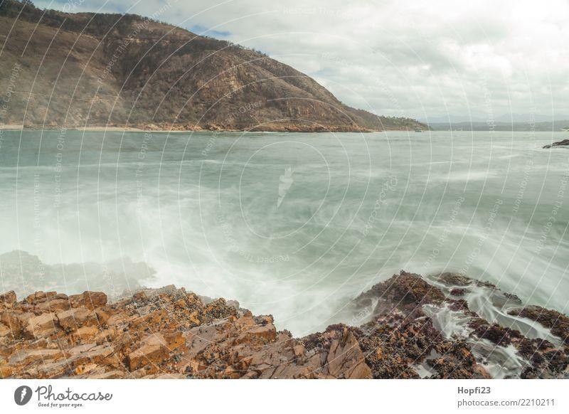 Südafrikanische Atlantikküste Natur Ferien & Urlaub & Reisen blau Wasser Landschaft Meer Erholung Ferne Frühling Küste Tourismus grau orange Felsen Ausflug