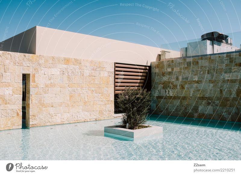 minimalism II Himmel Ferien & Urlaub & Reisen Sommer Stadt Wasser Erholung ruhig Architektur Gebäude Design modern ästhetisch Ordnung Idylle einfach Wellness