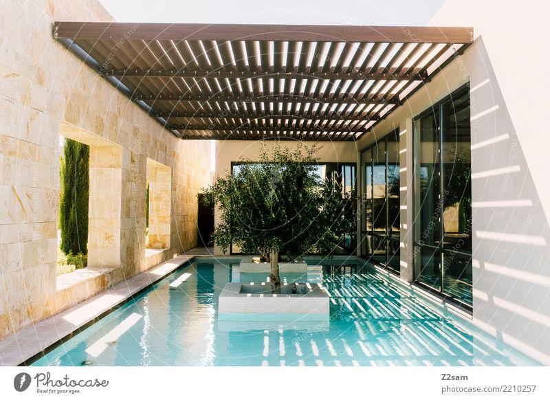 minimalism III Sommer Stadt Baum Meer Erholung ruhig Architektur Gebäude Design modern elegant ästhetisch frisch Ordnung Idylle Pause
