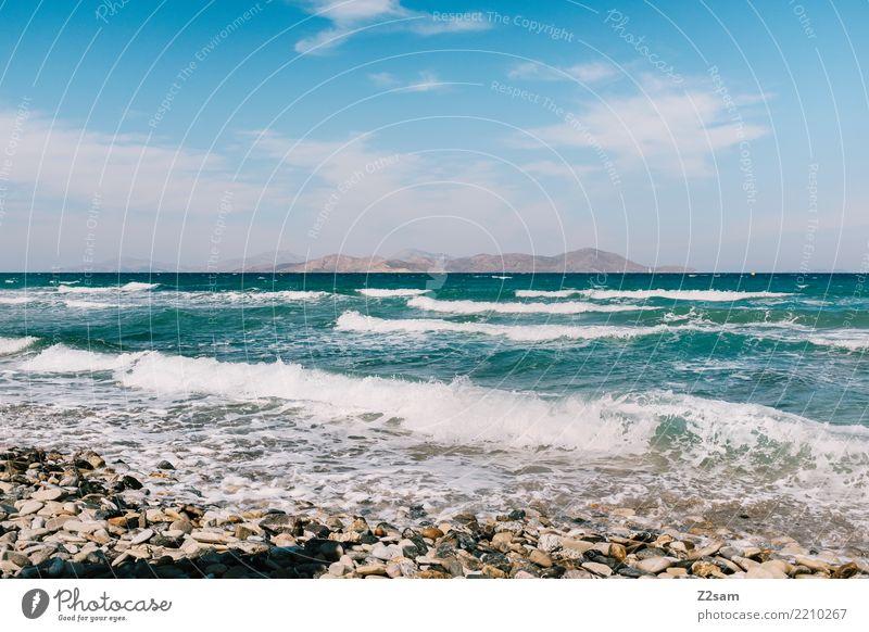 KOS Himmel Natur Ferien & Urlaub & Reisen Sommer Landschaft Sonne Meer Erholung Einsamkeit Ferne Strand natürlich Küste Wellen ästhetisch frisch