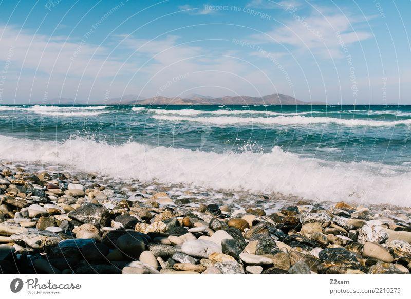 kos Ferien & Urlaub & Reisen Sommerurlaub Strand Meer Natur Landschaft Wasser Himmel Sonne Schönes Wetter ästhetisch Ferne frisch blau türkis Lebensfreude ruhig