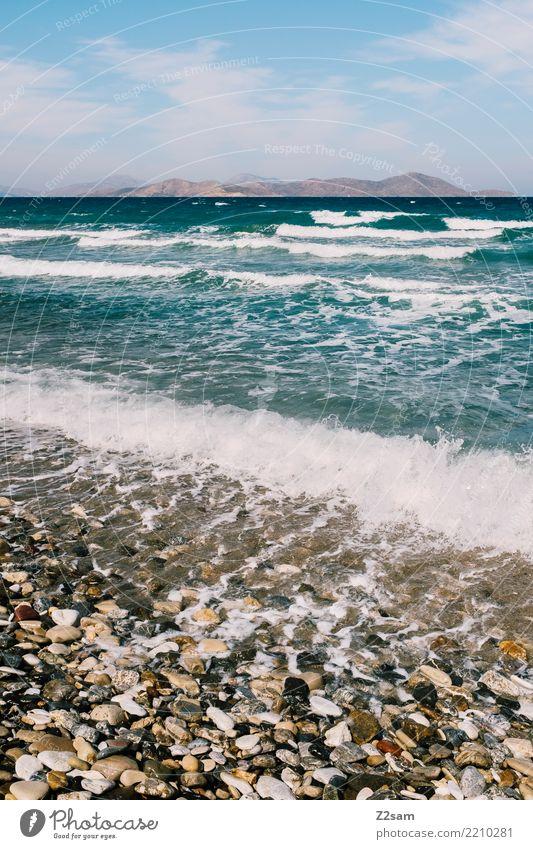 KOS Himmel Natur Ferien & Urlaub & Reisen blau Sommer Landschaft Sonne Meer Erholung ruhig Ferne Strand Umwelt Küste Tourismus Wellen