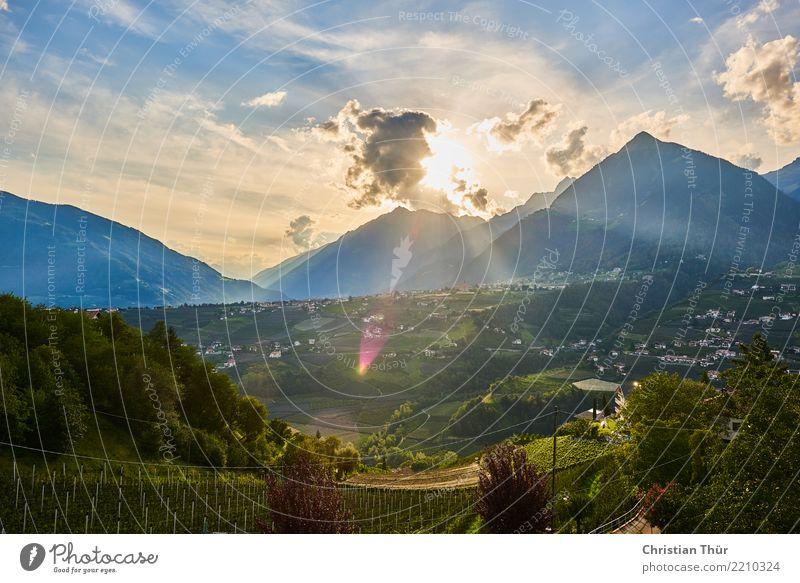 Schenna Südtirol Ferien & Urlaub & Reisen Tourismus Ausflug Ferne Freiheit Berge u. Gebirge wandern Umwelt Natur Landschaft Pflanze Tier Wolken Sonne Sommer