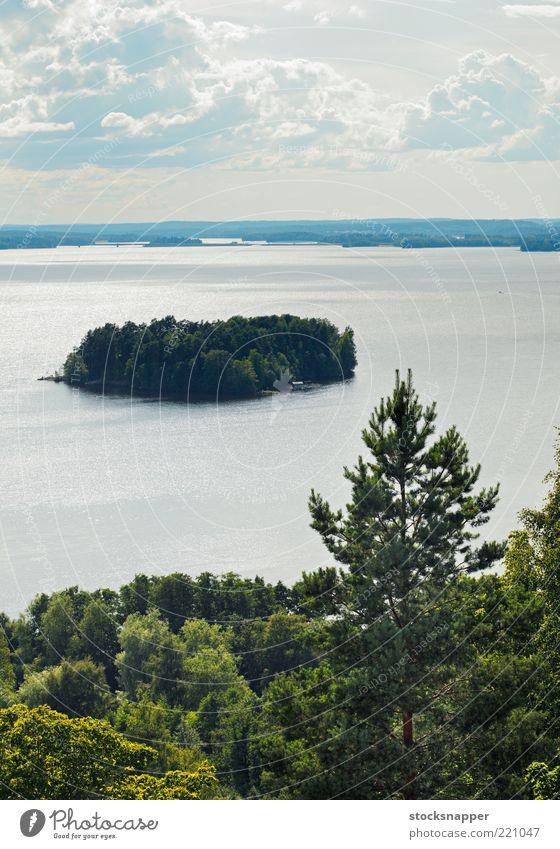 Natur Wasser See Landschaft Insel Finnland Tampere