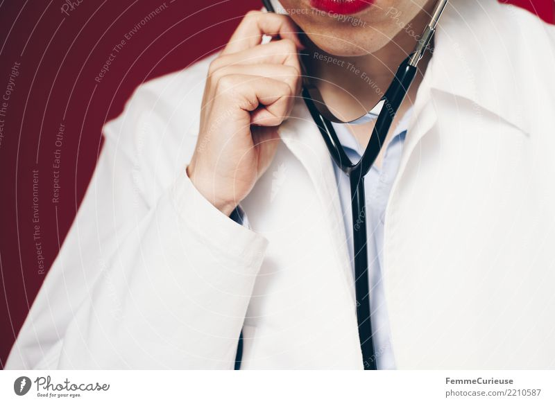 Doctor 23 Arbeit & Erwerbstätigkeit Beruf Arzt feminin Frau Erwachsene 1 Mensch 18-30 Jahre Jugendliche kompetent Stethoskop Kittel Arbeitsbekleidung