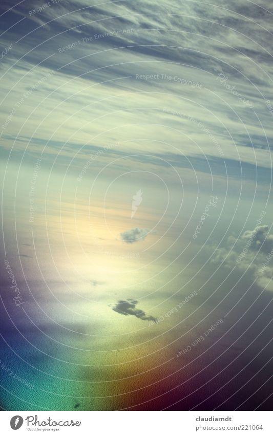 In heaven Ferne Freiheit Meer Urelemente Luft Wasser Himmel Horizont Flugzeugausblick fliegen außergewöhnlich gigantisch Unendlichkeit schön mehrfarbig Glaube