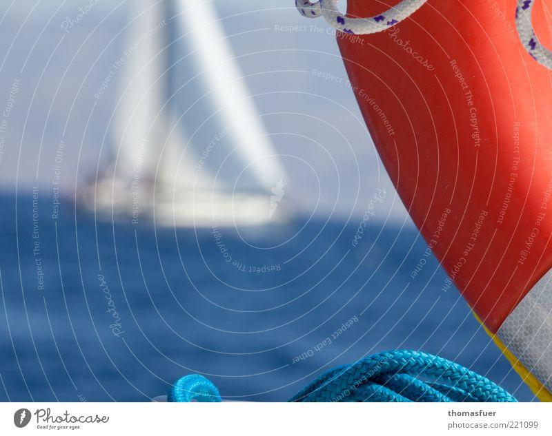Sailing Freizeit & Hobby Ferien & Urlaub & Reisen Abenteuer Freiheit Sommerurlaub Meer Wellen Wassersport Segeln Segelboot Wolkenloser Himmel Schönes Wetter