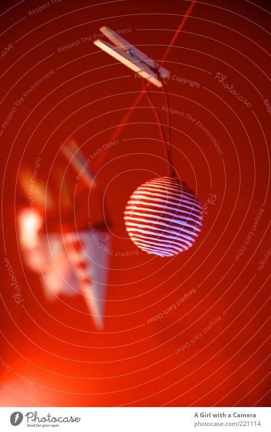 Red Xmas Weihnachten & Advent schön rot Stil Glück klein außergewöhnlich Design Dekoration & Verzierung modern Fröhlichkeit einzigartig Seil rund Freundlichkeit