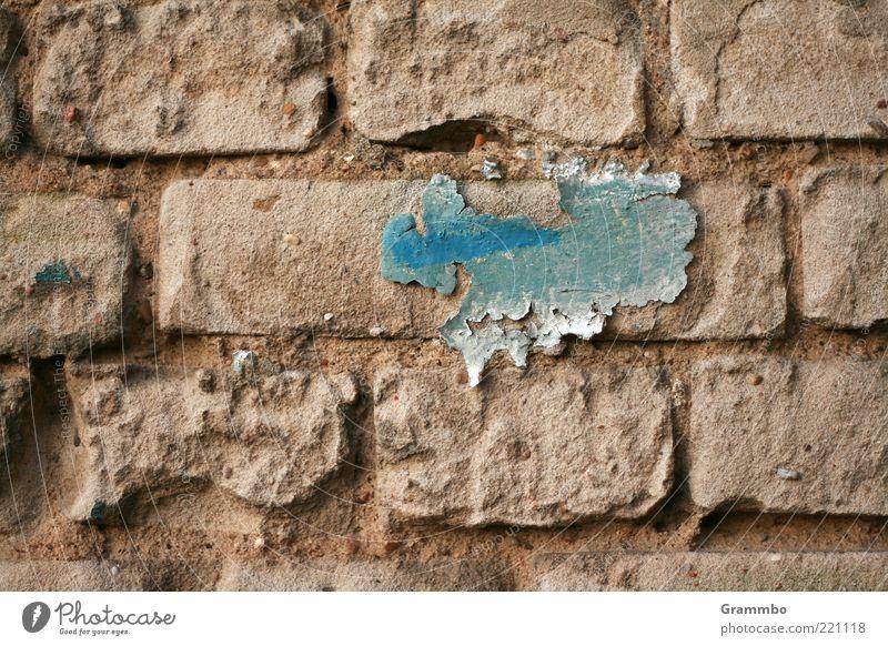 Eiszeit in Nordamerika blau Wand grau Stein Farbstoff kaputt Wandel & Veränderung verfallen Landkarte Rest Isolierung (Material) abblättern verwittert hell-blau
