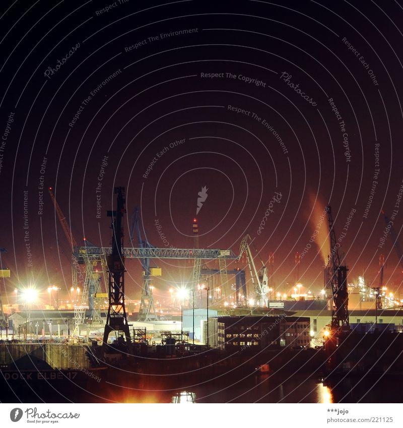 hamburg song. Stadt Beleuchtung Hamburg Güterverkehr & Logistik Fabrik Hafen Skyline Schifffahrt Kran Industrieanlage Elbe Ware laden Dock Fluss