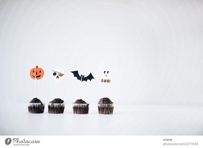 Halloween Cupcakes Lebensmittel Kuchen Dessert Süßwaren Schokolade Essen Winter Dekoration & Verzierung Herbst Accessoire gruselig weiß Ereignisse Fledertiere