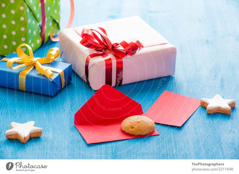 Umschlag und Lebkuchen Handarbeit Dekoration & Verzierung Feste & Feiern Weihnachten & Advent Silvester u. Neujahr Geburtstag Post Paket Ornament Fröhlichkeit