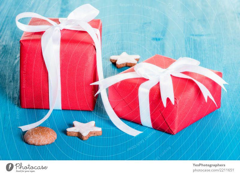 Rot verpackte Geschenkboxen Handarbeit Dekoration & Verzierung Feste & Feiern Weihnachten & Advent Silvester u. Neujahr Geburtstag Paket Ornament Fröhlichkeit