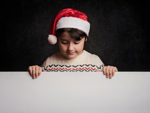 glückliches Kind zu Weihnachten Lifestyle Ferien & Urlaub & Reisen Winter Party Veranstaltung Feste & Feiern Weihnachten & Advent Silvester u. Neujahr Mensch