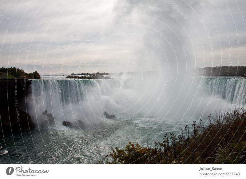 Niagara Fälle Natur Wasser Himmel Pflanze Wolken Landschaft Luft Umwelt Wassertropfen Erde außergewöhnlich Kanada Urelemente Wasserfall spritzen Gischt