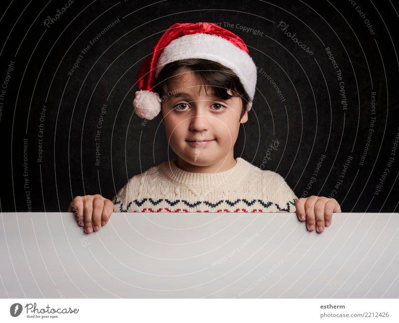 glückliches Kind zu Weihnachten Lifestyle Ferien & Urlaub & Reisen Winter Feste & Feiern Weihnachten & Advent Silvester u. Neujahr Mensch maskulin Kleinkind