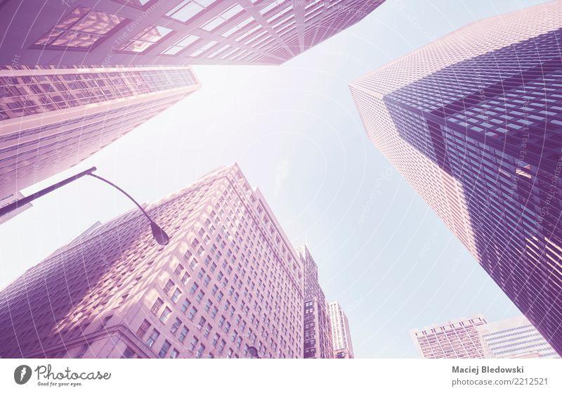 Wolkenkratzer Himmel Stadt Architektur Wand Gebäude Mauer Büro modern Hochhaus elegant Erfolg USA Team Stadtzentrum Bankgebäude Gesellschaft (Soziologie)