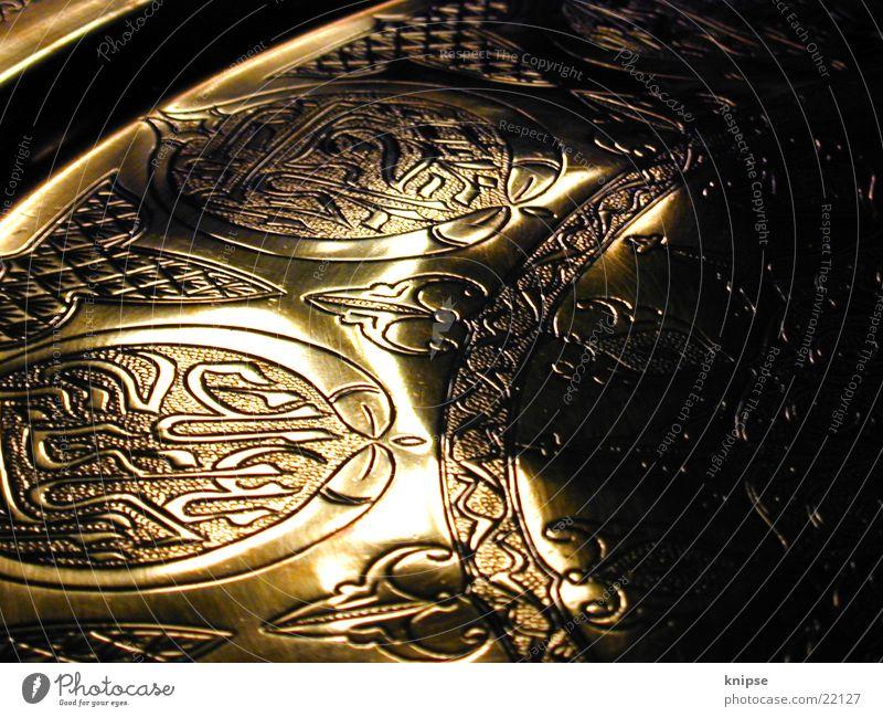 Orient glänzend gold obskur Teller Naher und Mittlerer Osten