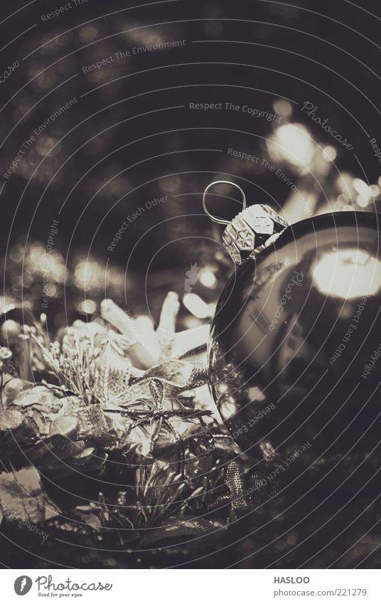 Weihnachten & Advent Winter schwarz dunkel Feste & Feiern Kunst Hintergrundbild neu weich Dekoration & Verzierung Jahr Vorhang Christbaumkugel Material
