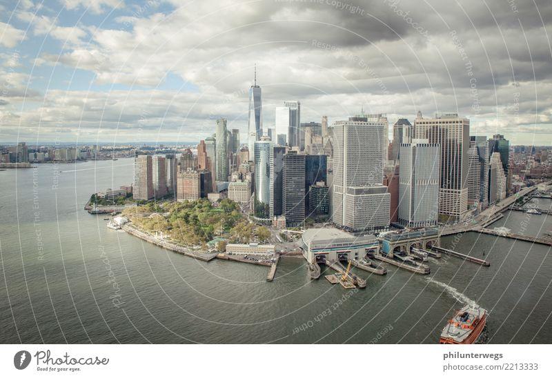 Südspitze von Manhattan, New York aus der Luft Ferien & Urlaub & Reisen Tourismus Ausflug Abenteuer Ferne Freiheit Sightseeing Städtereise Kreuzfahrt Küste