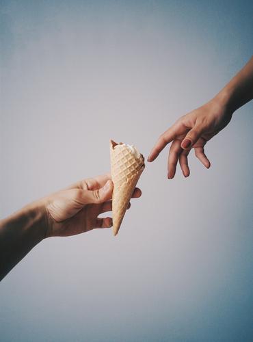 Herstellung von Eiscreme Speiseeis Italienische Küche Lifestyle elegant Stil Freude schön Freizeit & Hobby Valentinstag Geburtstag Frau Erwachsene Mann