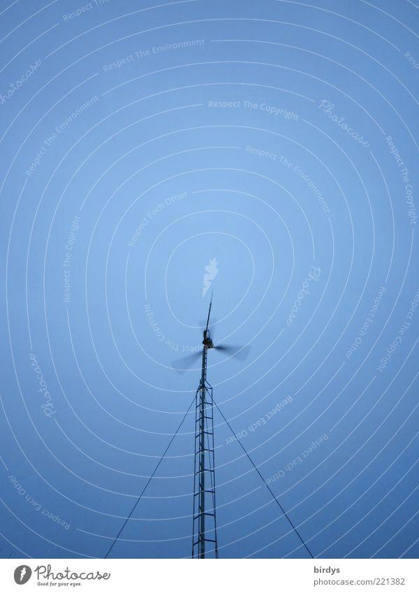Selbstversorger Himmel blau schwarz Wind Energiewirtschaft hoch Geschwindigkeit Zukunft Wandel & Veränderung Technik & Technologie Sauberkeit Wissenschaften