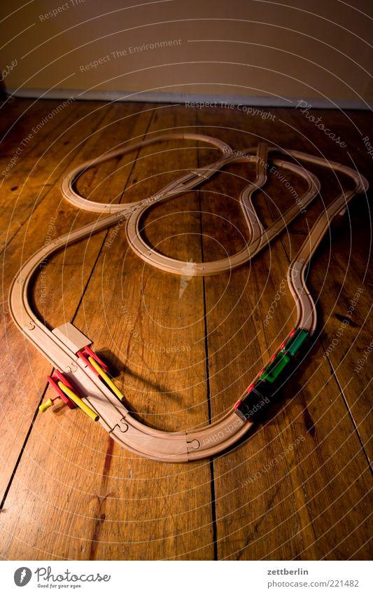 Unplugged Eisenbahn Spielen Holz Linie Raum Wohnung Verkehr Eisenbahn Lifestyle Güterverkehr & Logistik Bodenbelag Freizeit & Hobby Spielzeug Gleise Verkehrswege Flur