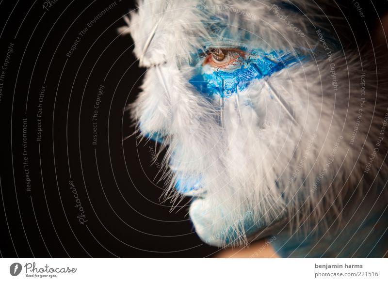 Traumwelten #1 Mensch Erwachsene Farbe Kopf Kunst elegant maskulin Behaarung außergewöhnlich einzigartig Maske Fell 18-30 Jahre fantastisch Porträt Idee