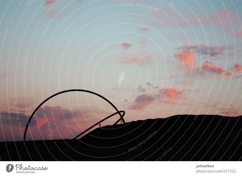 15° West Himmel blau rot ruhig schwarz Wolken Landschaft Kunst Tourismus rund Romantik Hügel Zeichen Globus Skulptur Schönes Wetter