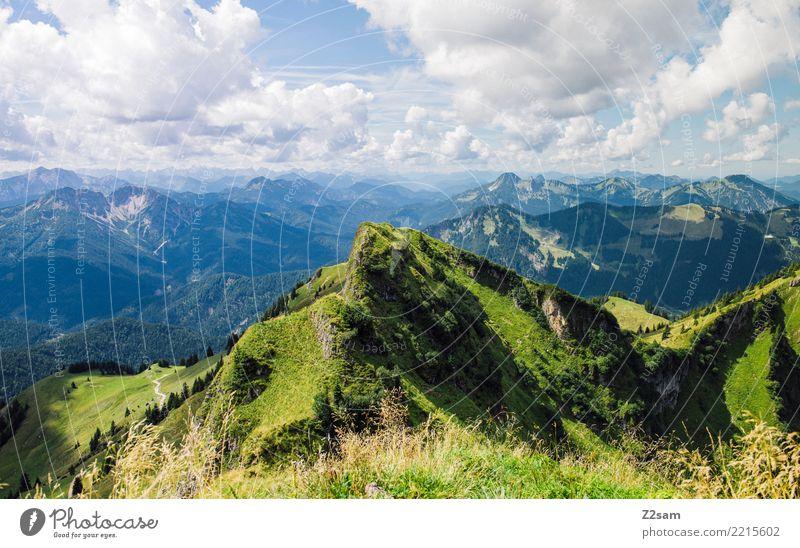 Rotwand Ferien & Urlaub & Reisen Berge u. Gebirge wandern Umwelt Natur Landschaft Himmel Wolken Sommer Schönes Wetter Alpen Gipfel ästhetisch Ferne gigantisch
