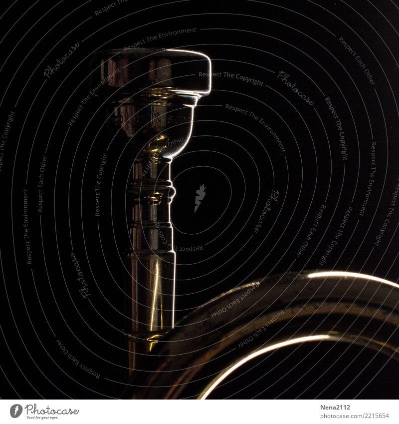 Trompete - Q3 Kunst Musik Musik hören Konzert Open Air Bühne Oper Band Musiker Orchester Blasmusik Blechblasinstrumente Metall Farbfoto Innenaufnahme