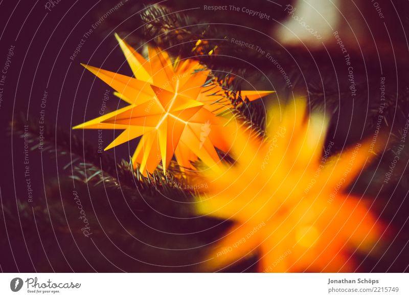 leuchtender Adventsstern IV Weihnachten & Advent Farbe weiß rot schwarz Religion & Glaube gelb Beleuchtung Lampe Feste & Feiern orange hell