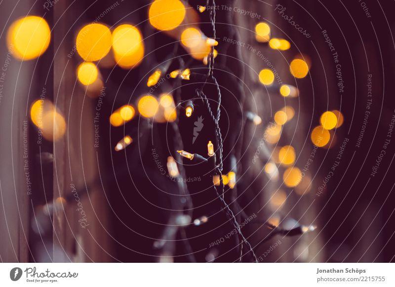 Lichterkette II Weihnachten & Advent Farbe schwarz gelb Beleuchtung Lampe Feste & Feiern orange hell leuchten Dekoration & Verzierung glänzend gold Hoffnung neu