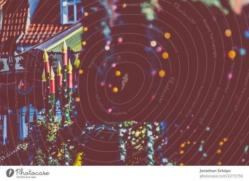 Deko an Verkaufsständen auf dem Erfurter Weihnachtsmarkt II Weihnachten & Advent Stadt Farbe Winter Beleuchtung Lampe leuchten Dekoration & Verzierung Hoffnung