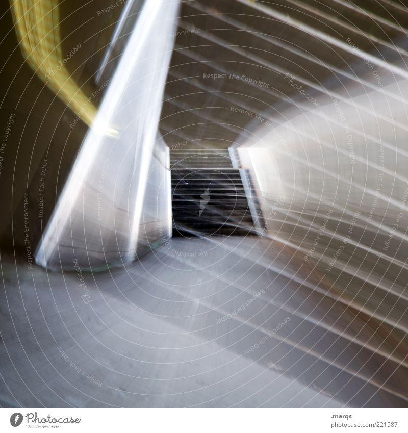 Primed dunkel Stil Wege & Pfade Beleuchtung verrückt Lifestyle Treppe Zukunft leuchten Tunnel Surrealismus abstrakt unterirdisch Bewegungsunschärfe Unterführung