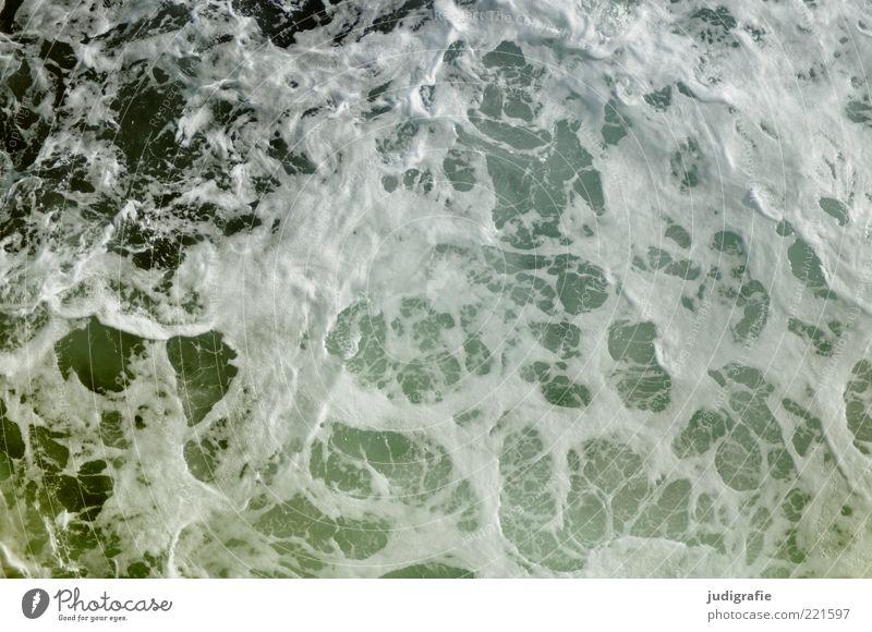 Reise Natur Urelemente Wasser Wellen Meer Atlantik kalt nass natürlich wild Gischt Schaum Wellengang salzig Farbfoto Gedeckte Farben Außenaufnahme Muster Tag