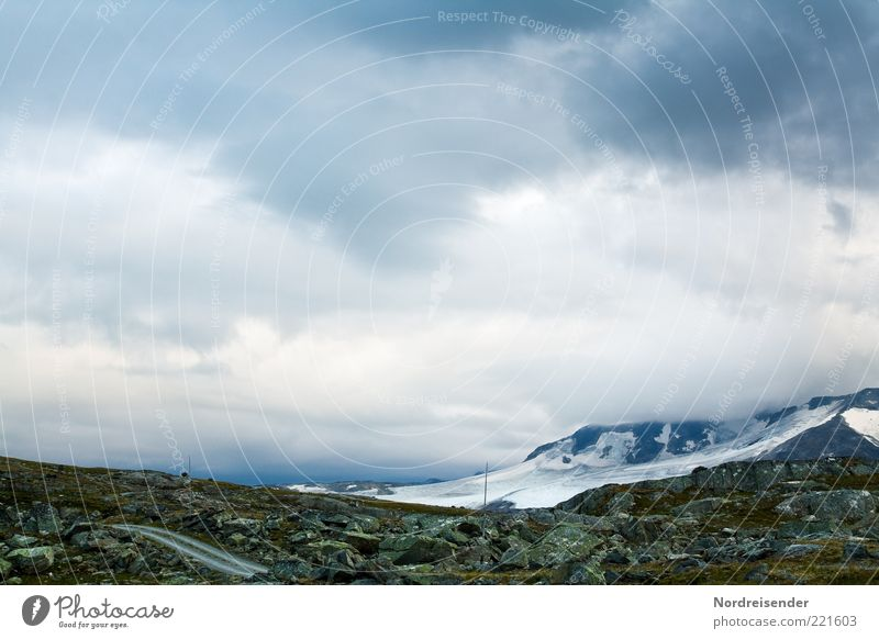 Jotunheimen Natur Ferien & Urlaub & Reisen Wolken Straße Berge u. Gebirge Freiheit Wege & Pfade Landschaft Abenteuer Tourismus Reisefotografie Klima Gipfel