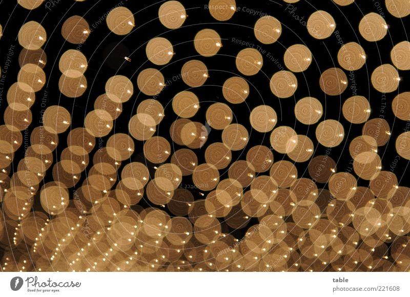 Leuchtfeuer schwarz dunkel Gefühle gold glänzend Energiewirtschaft rund außergewöhnlich Dekoration & Verzierung leuchten viele Punkt Lebensfreude bizarr hängen abstrakt
