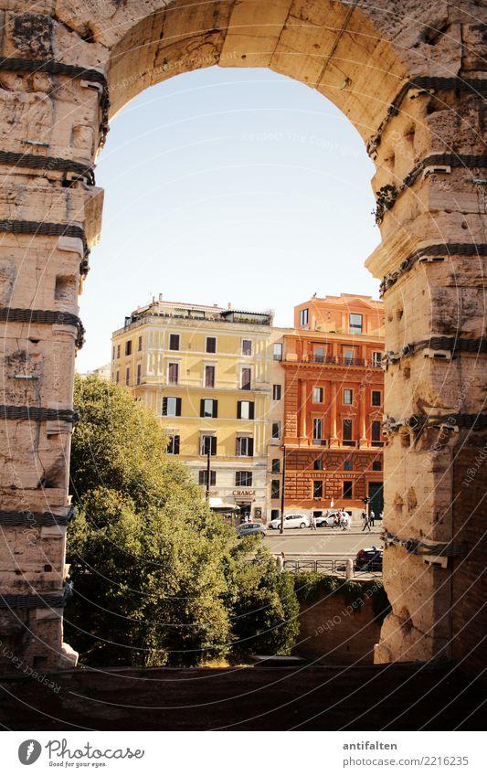 Aussicht auf 2018 Ferien & Urlaub & Reisen Tourismus Ausflug Ferne Sightseeing Städtereise Sommer Sonne Architektur Rom Italien Europa Stadt Hauptstadt
