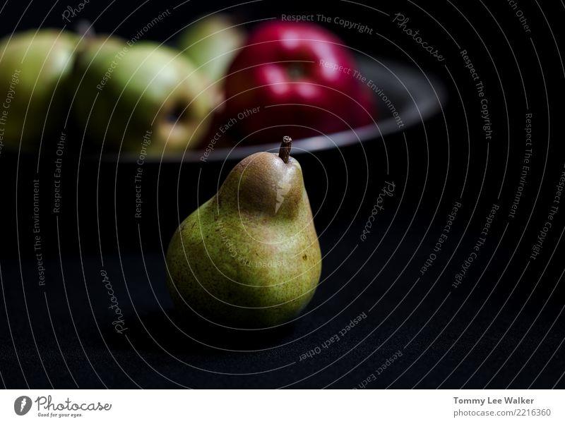 Grüne Birne Natur Sommer grün rot Leben gelb Herbst natürlich Menschengruppe Frucht Ernährung frisch lecker Jahreszeiten Ernte Apfel