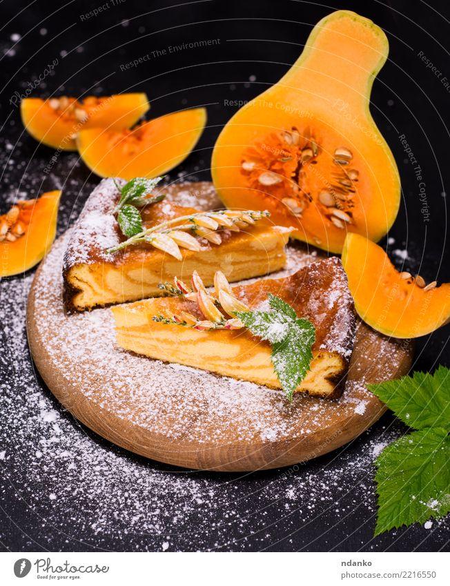 Blatt schwarz Essen Herbst natürlich Holz orange frisch Küche lecker Gemüse Süßwaren Tradition Dessert Backwaren Mahlzeit